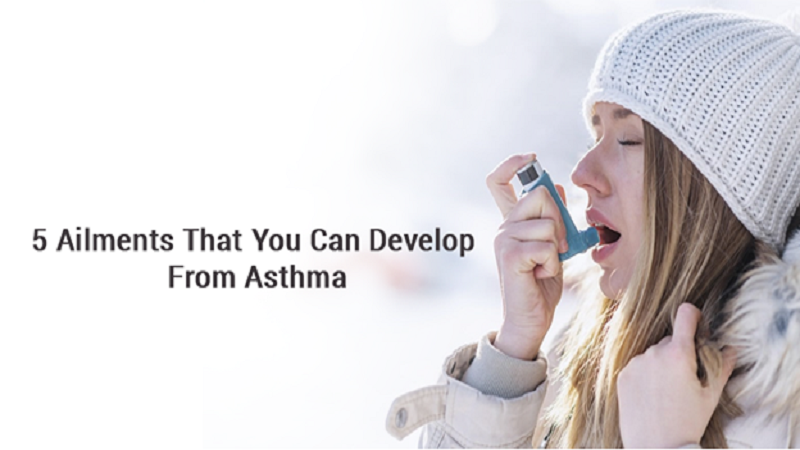 5 Ailments that you can develop from Asthma