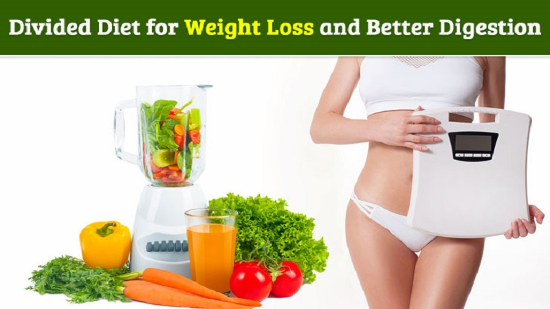 Divided diet for weight loss and better digestion
