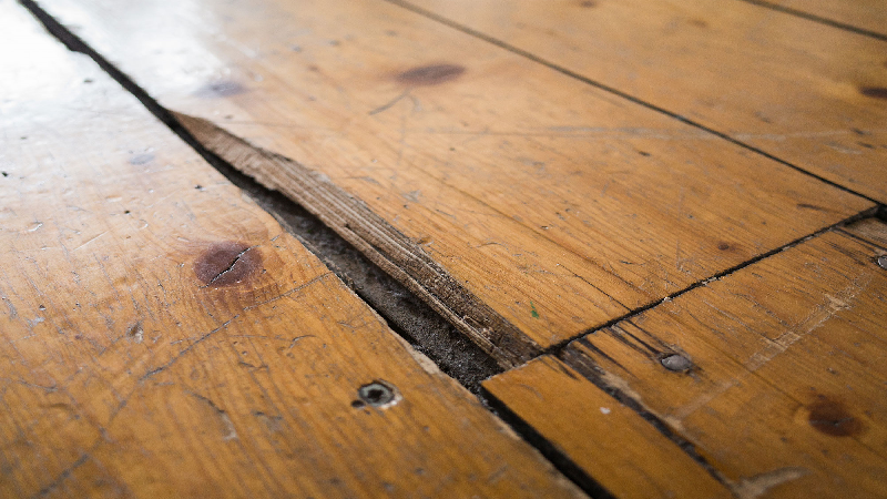 chipped flooring