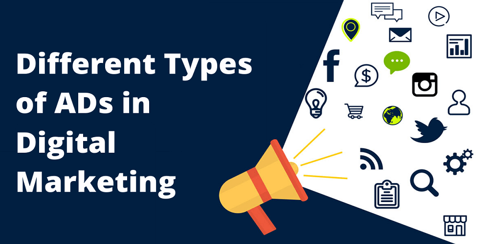 Different types of ads in digital marketing