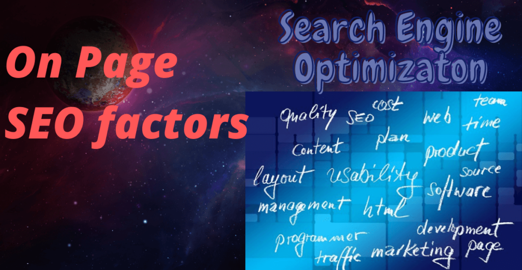 On page SEO factors to consider