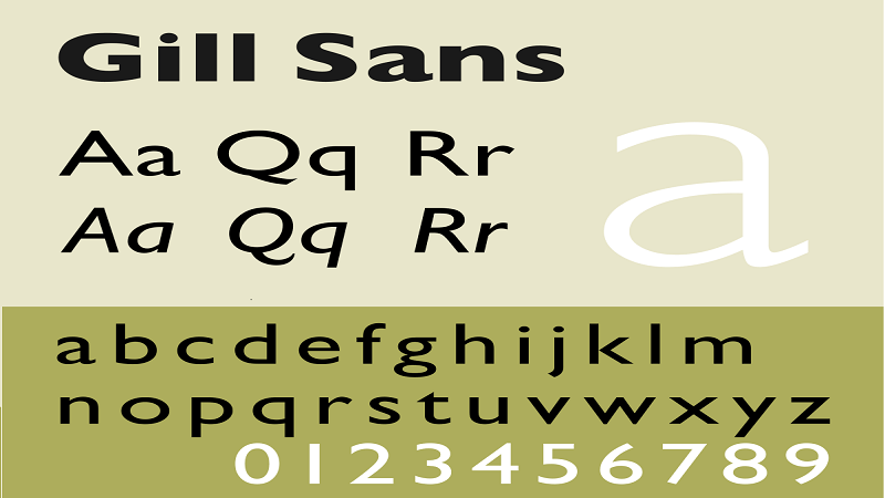 Gill Sans Google Font